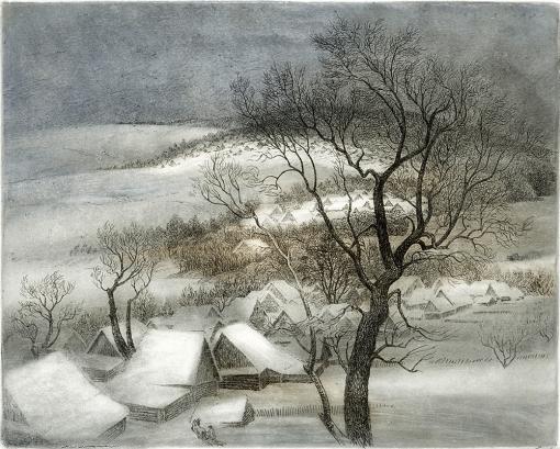 Свежий снег 30x37см