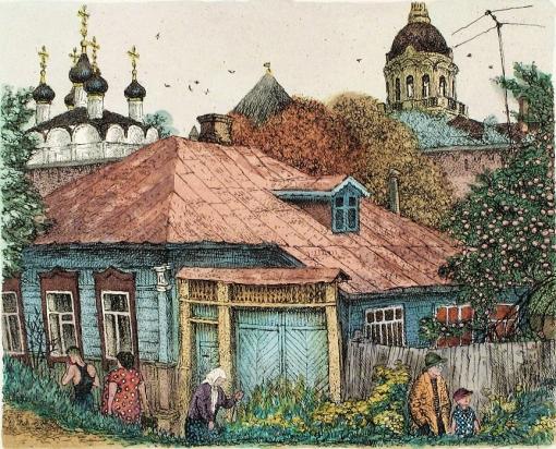 Дом-в-три-окна-(15х20)-офорт,-акварель,-1992-год