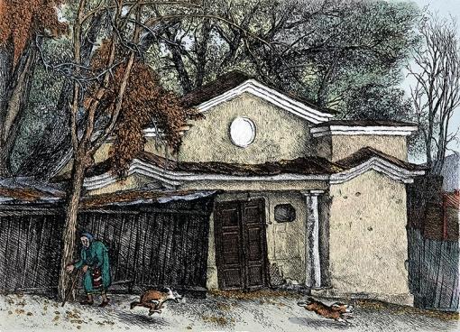 Осень в Подкопаевском переулке 1983 г. (16х22) (1)